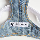 Varsity Cherry Badge Denim Dog Harness