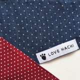 Reversible Denim & Red Spot Dog Bandana