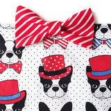 Frenchie Candy Stripe Bow Tie Bandana