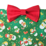 Snow Man Fam Green Christmas Bow Tie Bandana