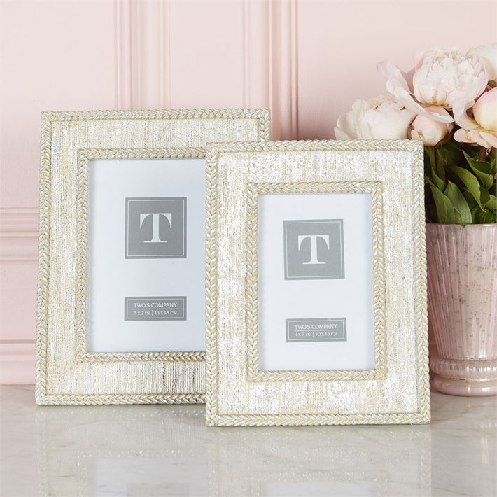 Silver Braided Frames