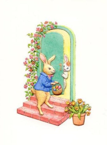 "Mr. Bunny Calling ""Happy Easter"""