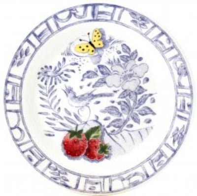 Small Table Coaster Fruits and Blue Pattern