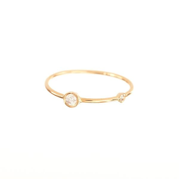 Double Diamond Stacking Ring