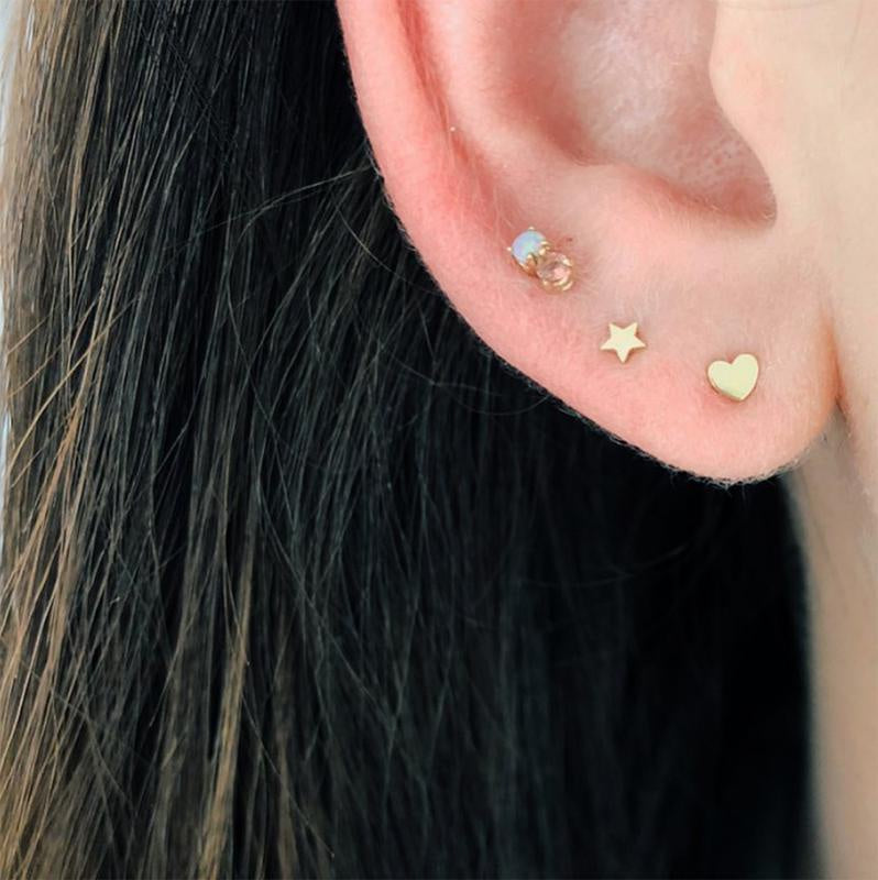 Tiny 14k Yellow Gold Studs