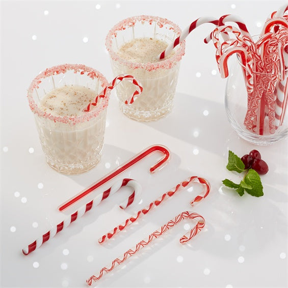 Candy Cane Glass Ornament Stick