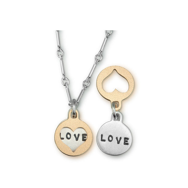 Two Tone Love Necklace