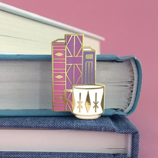 Books Enamel Pin Set