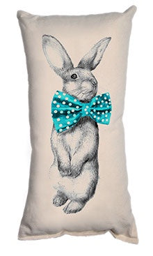 Bunny Bowtie  Small Pillow