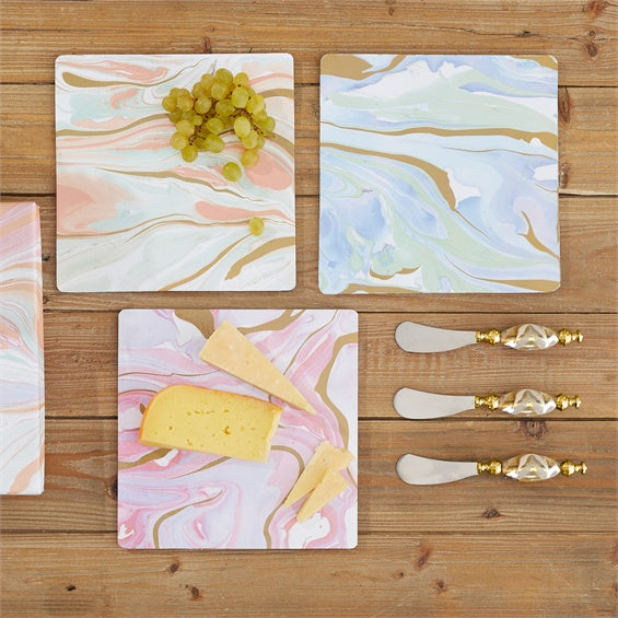 Marble Pattern 2PC Serving Set