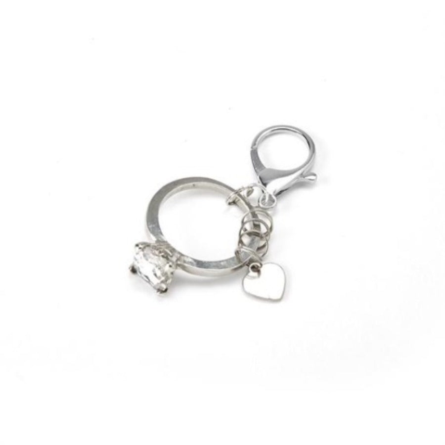 Big Diamond Ring Key Chain
