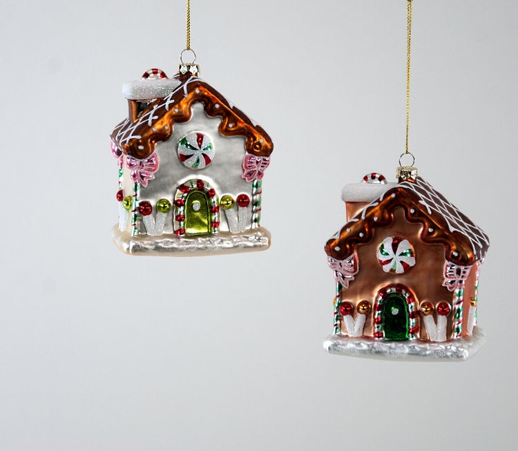 Sweet Large Gingerbread House Ornament A/2