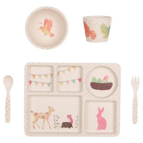 Bamboo 5pc Set- Woodland Tea Party