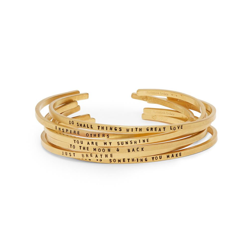 Gold Narrow Inspiracelet Cuff