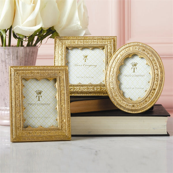Vermeil Ornate Set of 3 Frames