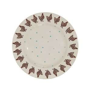 "8.5"" Brown Speckled Hen Plate"