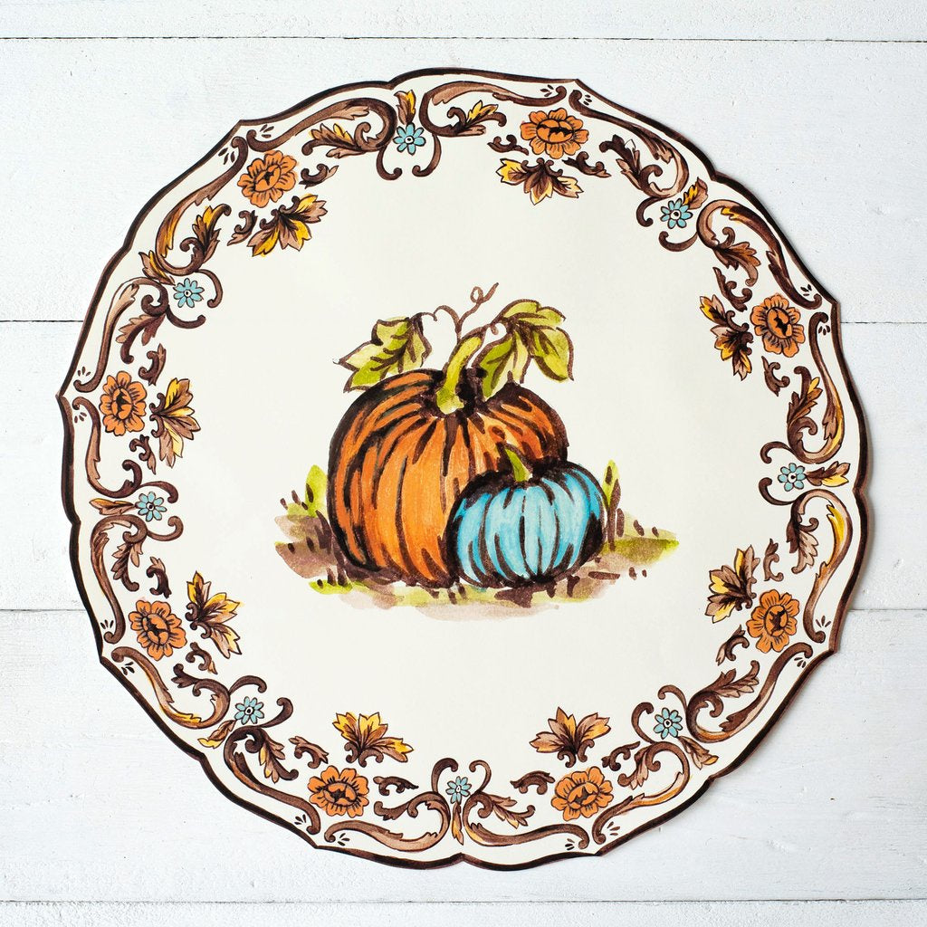 Die Cut Thanksgiving China Placemat