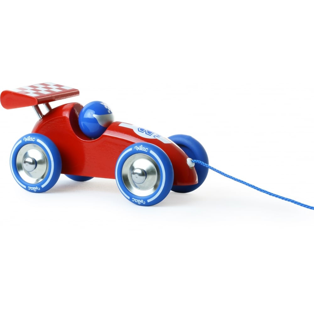 Red Pull Along Racing Car
