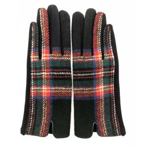 Multi Plaid Smart Touch Gloves