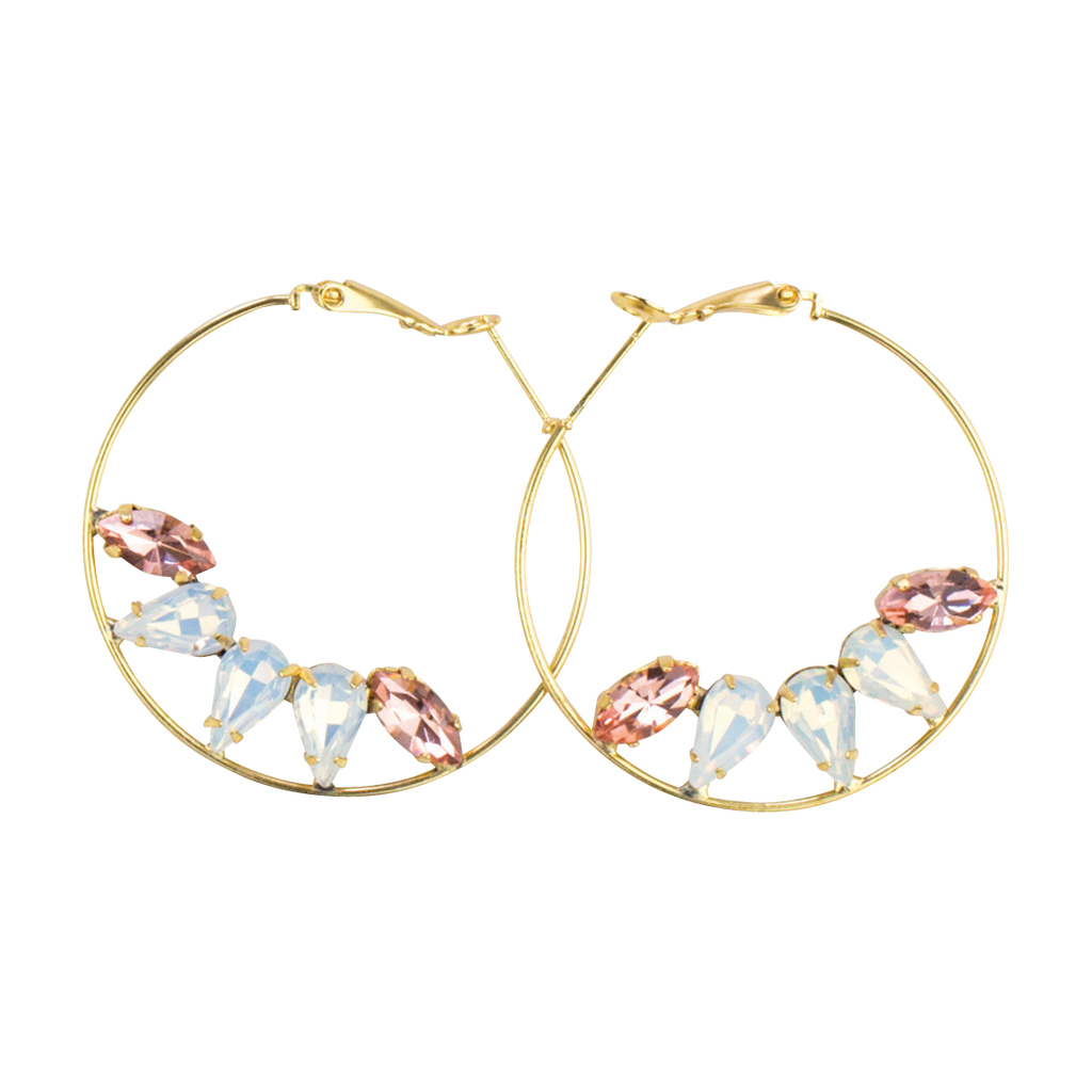 Teardrop Sparkle Hoops