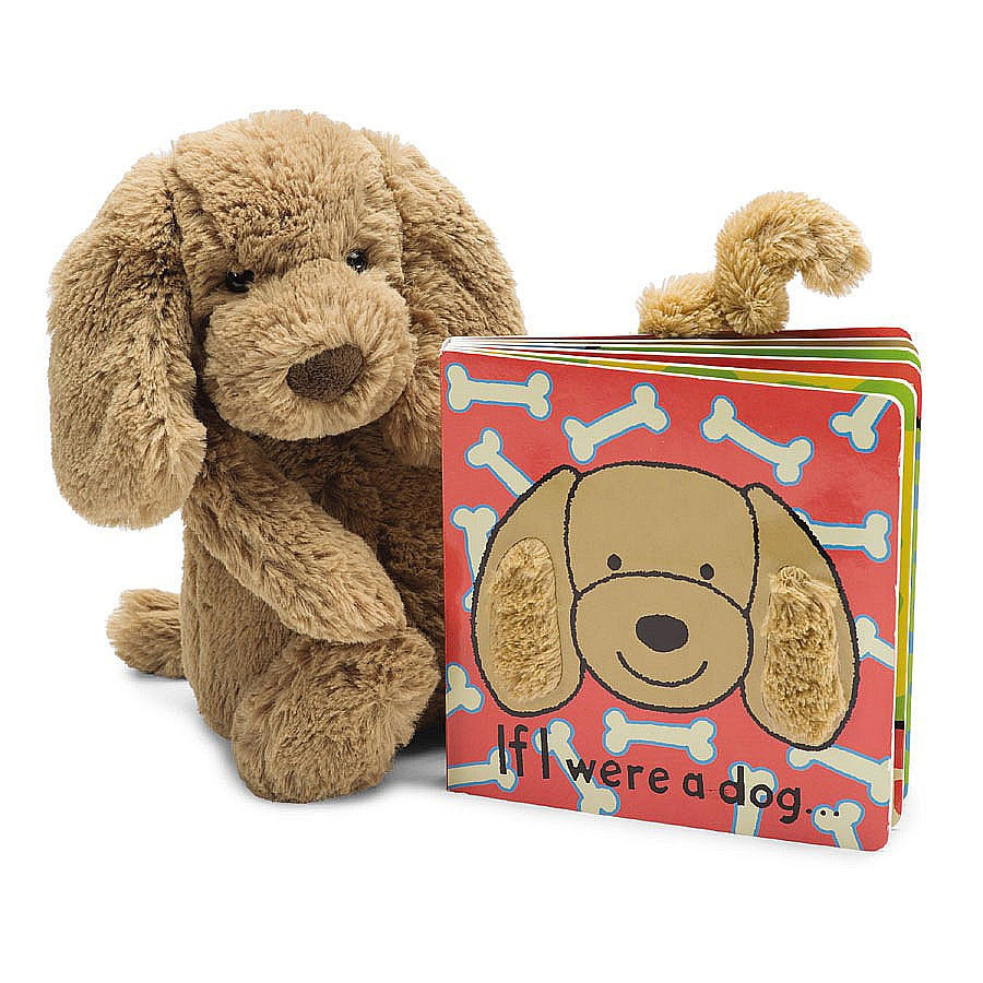 Bashful Toffee Puppy & Book Gift Set