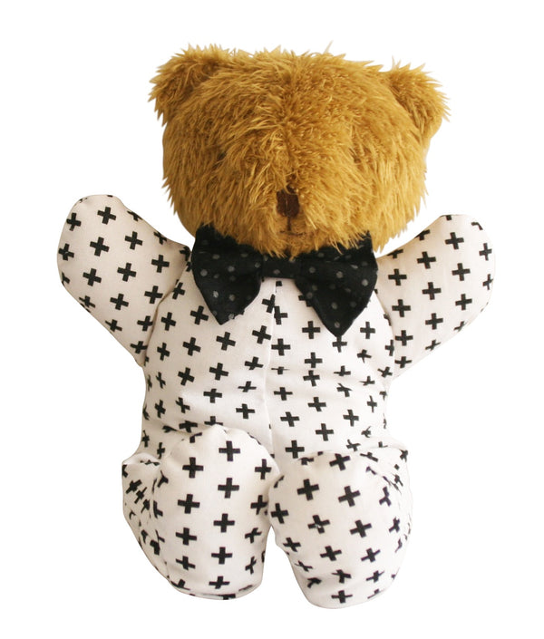 Baby Sleepytime  Bear White Navy Star