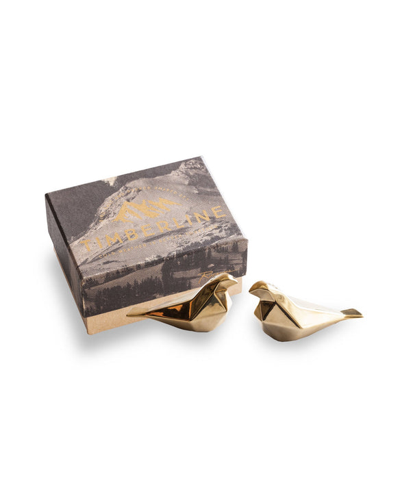 Timberline Salt & Pepper Birds In Gold