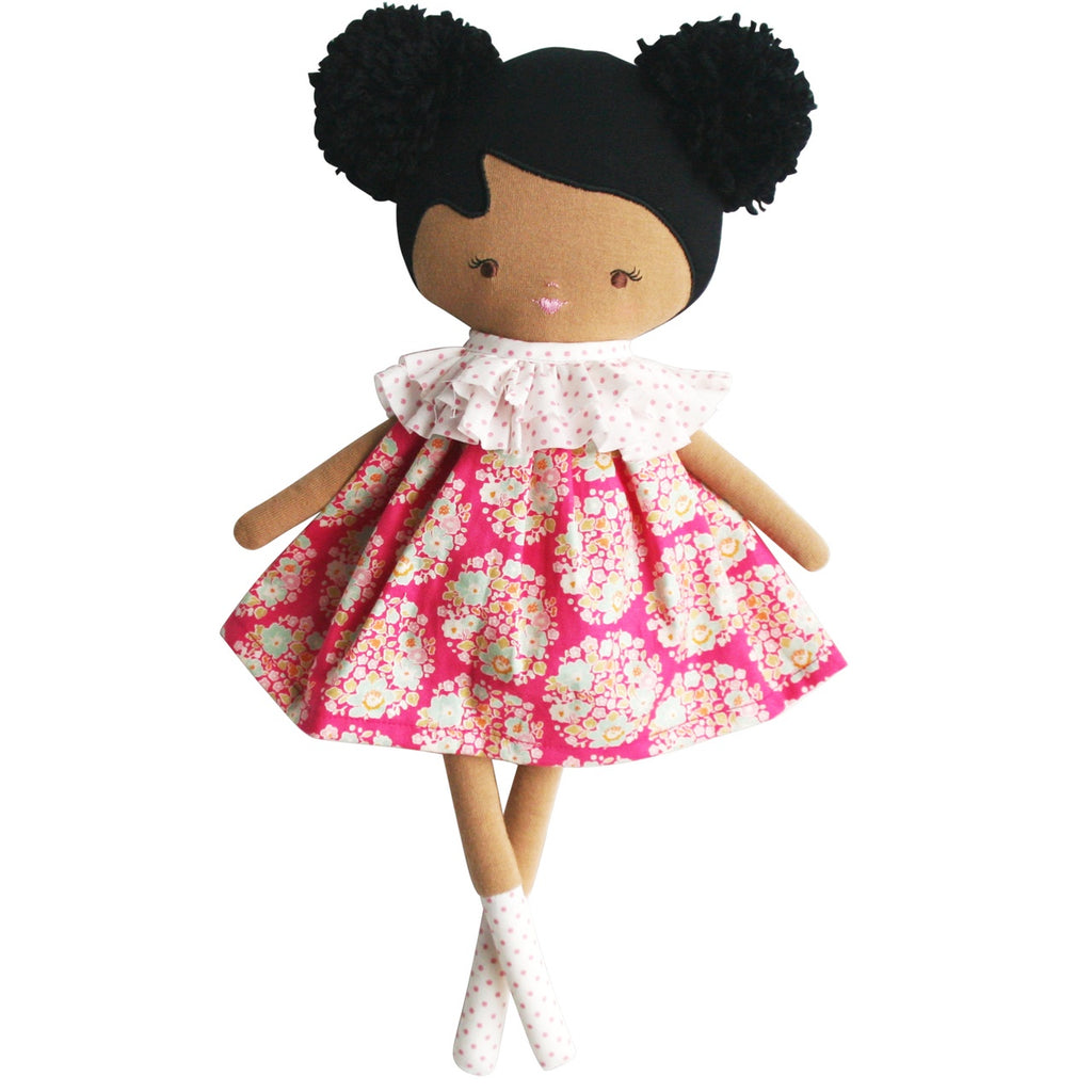 Baby Ellie Doll in Hot Pink Floral