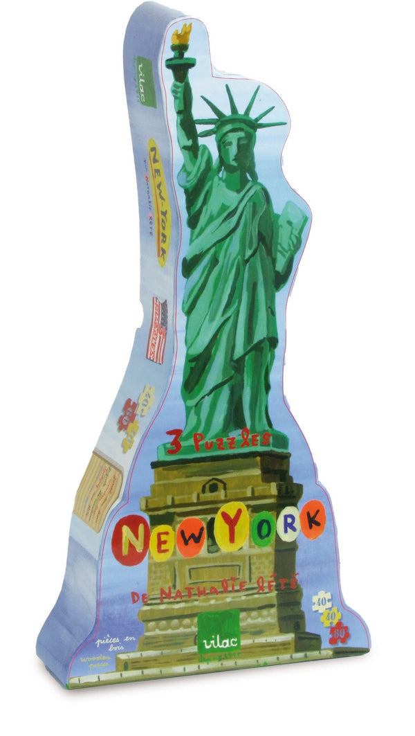 New York 3 Puzzles by Nathalie Lete
