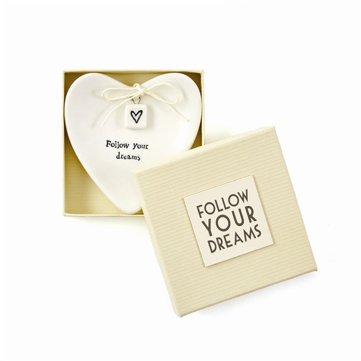 Follow Your Dreams Heart Ring  Dish