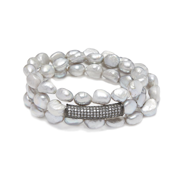 Pearl Beaded Bar Bracelet