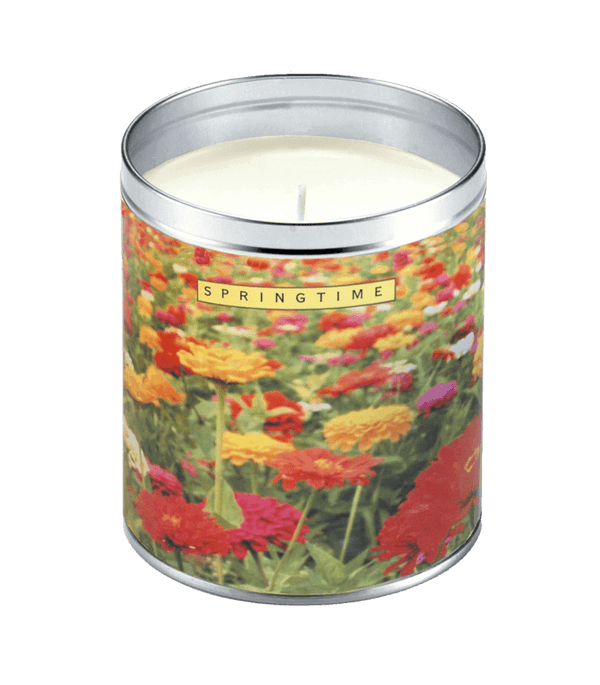 Springtime Flowers Candle