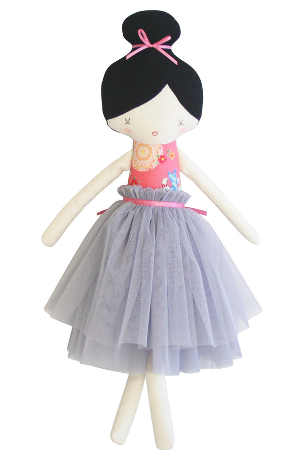 Alimrose Amelie Doll with Pink and Grey Tutu