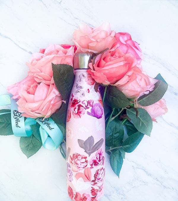 17oz. Floral Blush Bottle