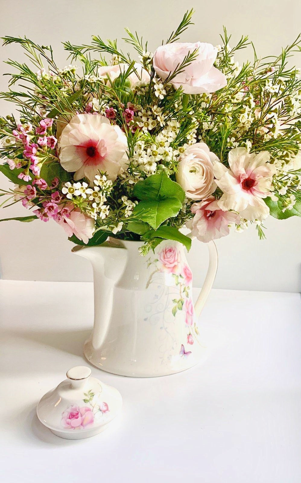 Tall Teapot Floral Arrangement