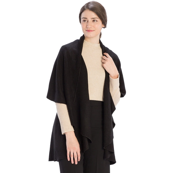 Solid Basic Cape Shawl Vest