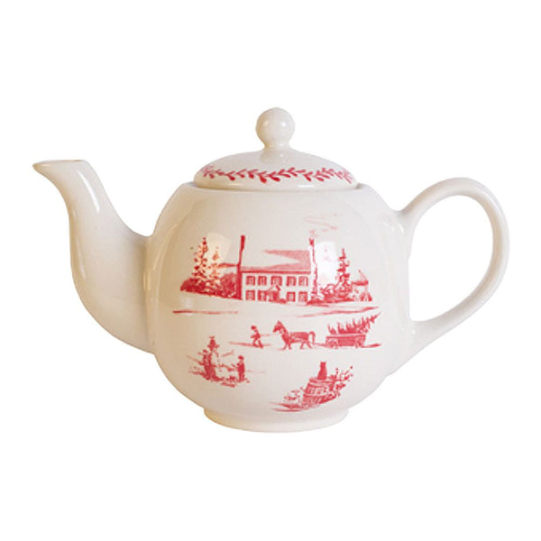 Winter Homestead Teapot