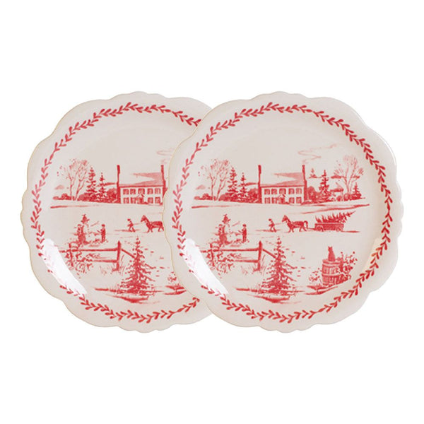 Winter Homestead Plates S/2
