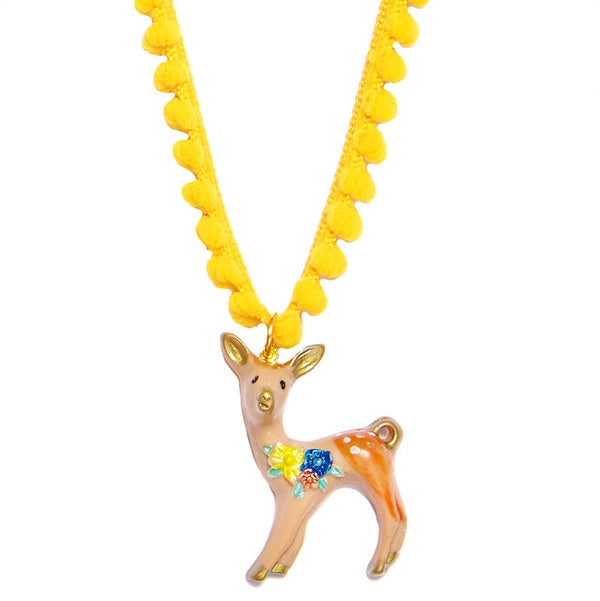 Bambi Fawn Cord Necklace