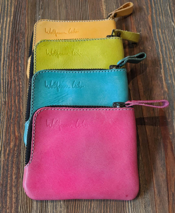 Zip Leather Pocket Wallet