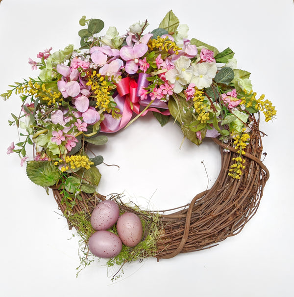 Small Dogwood & Ribbon Wreath