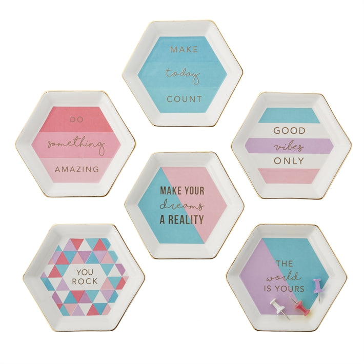 Get it Girl Hexagon Trinket Tray