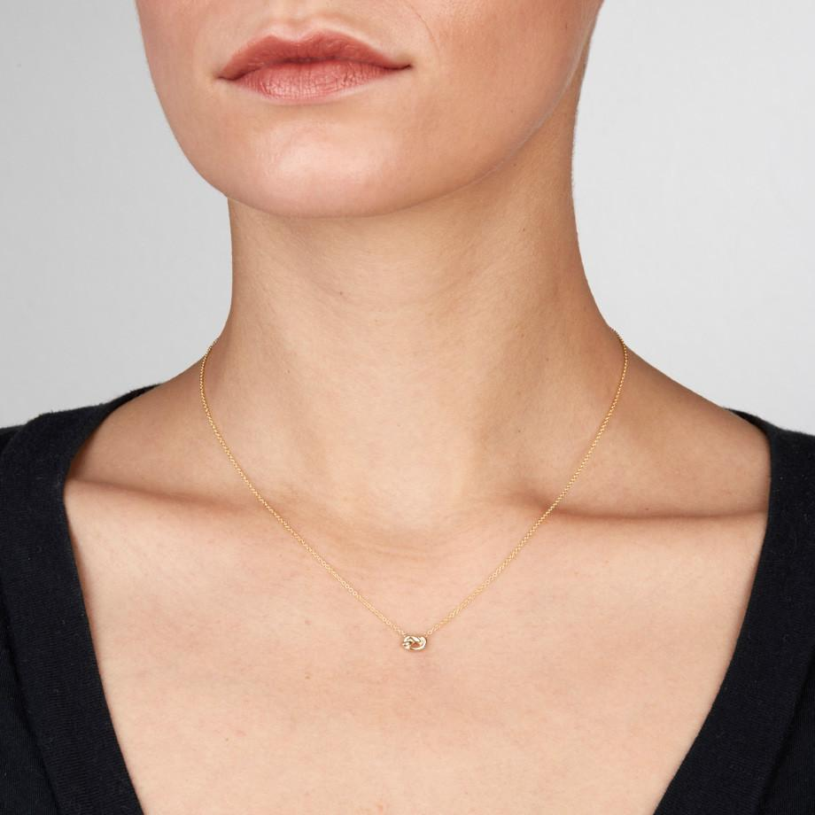Love Knot 14K Y/G Necklace