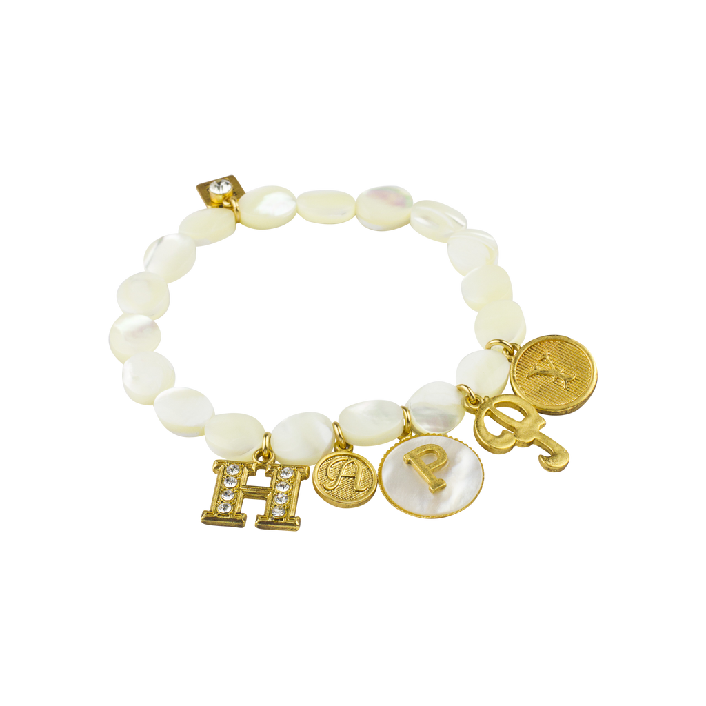 Happy MOP Stretch Bracelet
