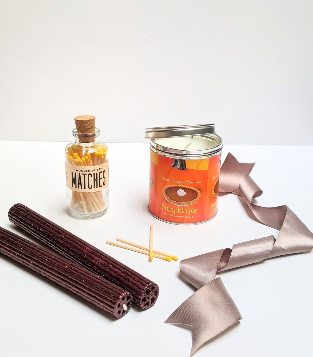 PUMPKIN PIE THANKSGIVING CANDLE GIFT SET