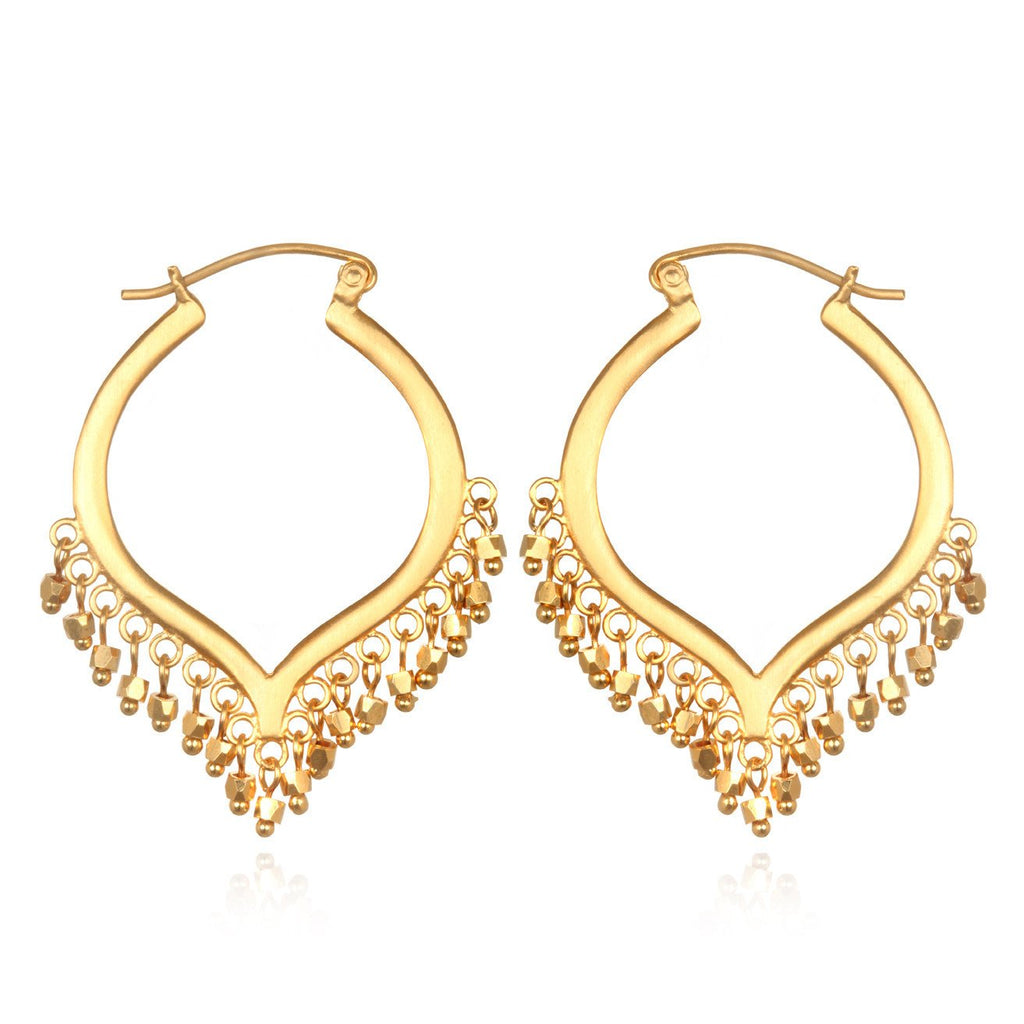 Lustrous Light Chandelier Bead Earrings