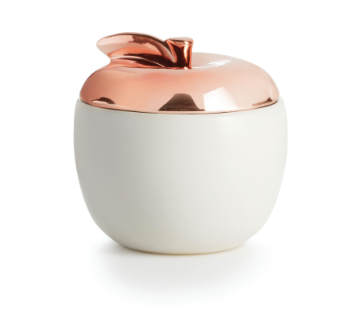 Cider Woods Ceramic Apple Candle