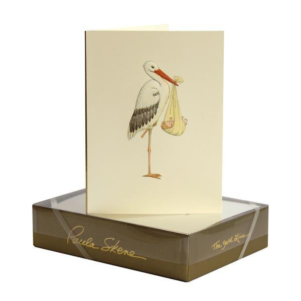 Stork & Baby/ New Arrival Card