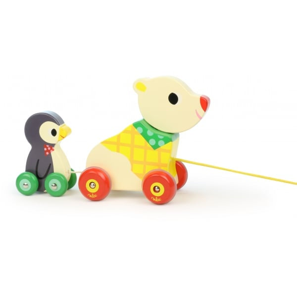 The Bear and The Penguin Pull Along Musical Toy