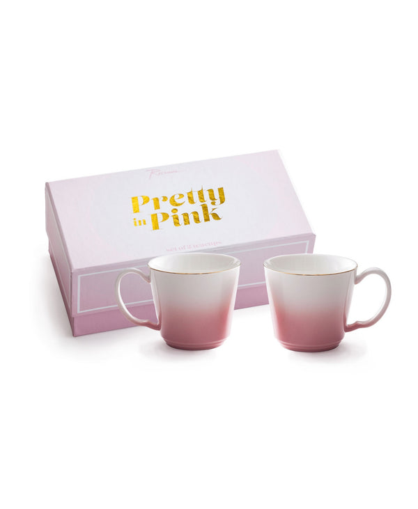 Pretty In Pink Cups Set of Two